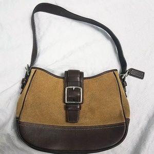 Coach Women's Leather Suede Bag Purse Shoulder Bag